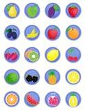Set owocowe ikony Obraz Stock