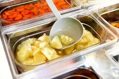 Set owocowy deser dla robi smoothie Świeżych owoc soki Obrazy Stock
