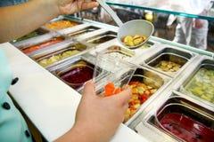 Set owocowy deser dla robi smoothie Świeżych owoc soki Obrazy Royalty Free