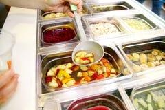 Set owocowy deser dla robi smoothie Świeżych owoc soki Fotografia Royalty Free