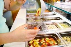 Set owocowy deser dla robi smoothie Świeżych owoc soki Obraz Royalty Free