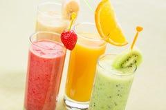 Set owocowy smoothie Fotografia Stock