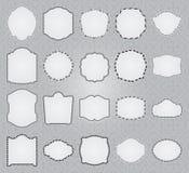 Set ozdobne ramy w roczników stylach. Obrazy Stock