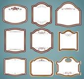 Set ozdobne ramy. Wektorowa ilustracja Obrazy Stock