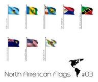 Set Północnoamerykańskie flaga ilustracja wektor