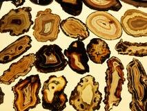 Set półprzezroczysty agat na jaskrawym tle obrazy royalty free