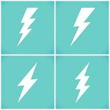 Set płascy błyskawicowi symbole ustawiający Fotografia Stock