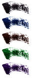 Set płascy tusz do rzęs swatches Muśnięć uderzenia różni cienie tusz do rzęs Kolorowi zawijasy odizolowywający na białym tle Zdjęcia Stock