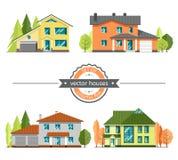 Set płascy wektorowi domy ilustracji