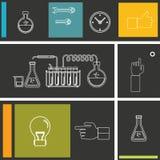 Set płaska projekt ikona dla eksperymentu ilustracja wektor