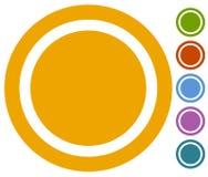 Set płaski guzik, odznaki ikona w 6 kolorach royalty ilustracja
