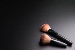 Set płaski odgórny widok różnorodny fachowy żeński kosmetyka br Fotografia Royalty Free