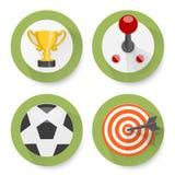 Set płaskie gier ikony Zdjęcie Stock