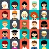 Set płaskie ikony z ludźmi Fotografia Stock