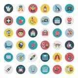 Set płaskie Medyczne ikony Obraz Stock