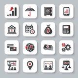 Set płaskie nowożytne biznesowe sieci ikony royalty ilustracja