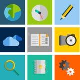 Set płaskie ogólnoludzkie ikony Obraz Stock