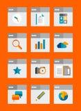 Set płaskie ogólnoludzkie ikony Zdjęcie Stock