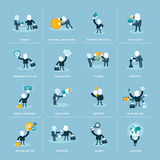 Set płaskie projekta pojęcia ikony dla biznesu Fotografia Stock