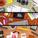 Set płaskiego projekta ilustracyjni pojęcia dla biznesu Obraz Royalty Free