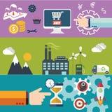 Set płaskiego projekta wektorowi ilustracyjni pojęcia dla strona internetowa układu, telefon komórkowy usługa i apps, komputerowa Obraz Stock