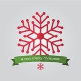 Set płatek śniegu w płaskiej projekta i bożych narodzeń odznace Zdjęcie Royalty Free