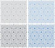 Set płatka śniegu wzór Zdjęcia Stock