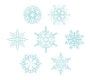 Set płatki śniegu Zdjęcie Royalty Free