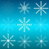 Set płatki śniegu. Zdjęcie Stock