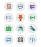 Set płaska ikona Fotografia Stock