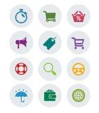 Set płaska ikona Zdjęcia Royalty Free