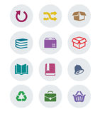 Set płaska ikona Obrazy Royalty Free