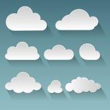 Set płaskie chmury Fotografia Stock