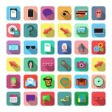 Set płaskie ikony Zdjęcie Stock