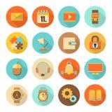Set płaskie kolorowe ikony Fotografia Royalty Free