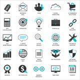 Set płaskie projekt ikony dla Seo i rozwoju Zdjęcie Royalty Free
