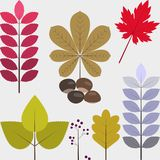 Set płaskie projekt jesieni ikony 01 ilustracji