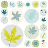 Set płaskiego projekta elementów naturalne ikony 02 royalty ilustracja