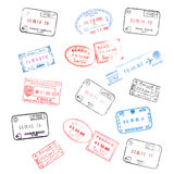 Set PaßSichtvermerke Lizenzfreie Stockbilder