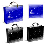 Set of packages. Blue and black, winter and night Royalty Free Stock Photography