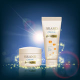 Set of packages of cream. Skin Care ads template. Stock  i Stock Photos