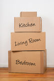 Set of Packages for Moving Day Stock Photo