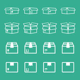 Set of packaging box icon. Stock Image