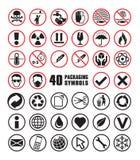 Set of Packaging Symbols in Vector Format. Set of Packaging Symbol Icons in Vector Format royalty free illustration