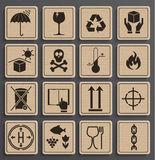 Set Of Packaging Symbols. Stock Photos