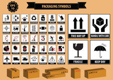 Set Of Packaging Symbols Royalty Free Stock Images