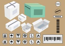 Set Of Packaging Symbols Stock Images