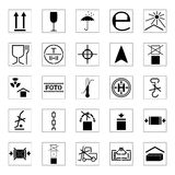 Set of packing icons,  illustration. Collection of packing icons,  illustration Stock Photos