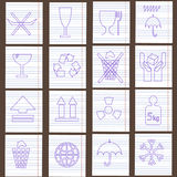 Set of packing symbols Royalty Free Stock Photography