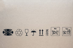 Set of packing symbols Stock Photography